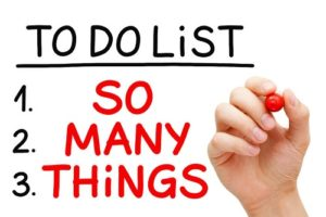 long to do list